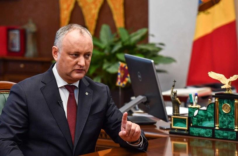 Prezydent Mołdawii Igor Dodon /AFP