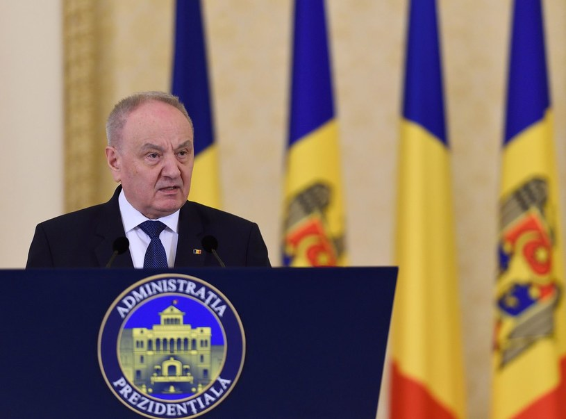 Prezydent Mołdawii Nicolae Timofti /AFP
