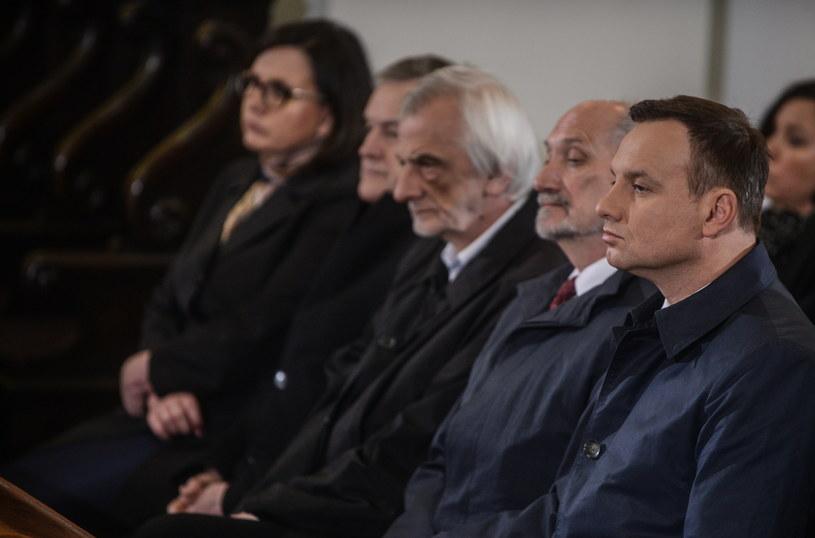 Prezydent na uroczystościach pogrzebowych /Jakub Kamiński   /PAP