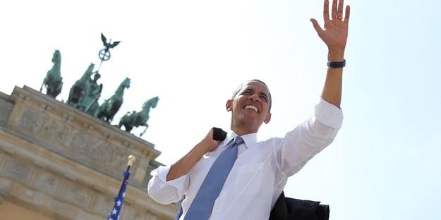 Prezydent Obama w Niemczech spędzi nieco ponad 24 godziny /MICHAEL KAPPELER / POOL /PAP/EPA