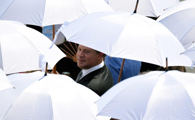 Prezydent Panamy Juan Carlos Varela Rodriguez na terenie Campusu Misericordiae w Brzegach, gdzie papież Franciszek odprawia Mszę Świętą Posłania /Jacek Turczyk /PAP