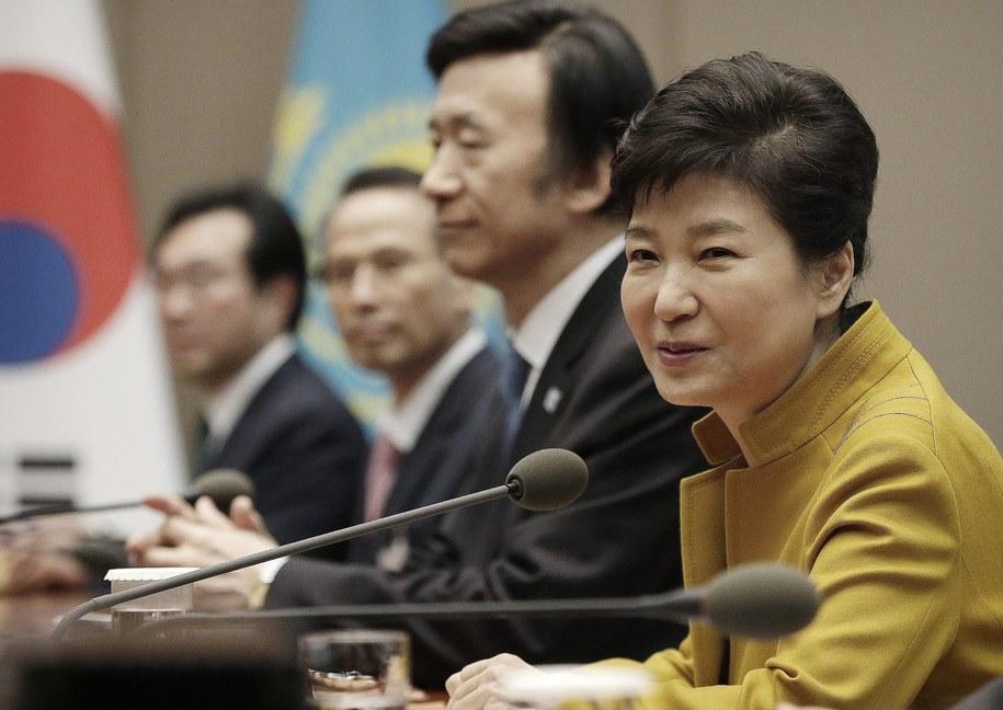 Prezydent Park Geun Hie /PAP/EPA/AHN YOUNG-JOON /PAP/EPA