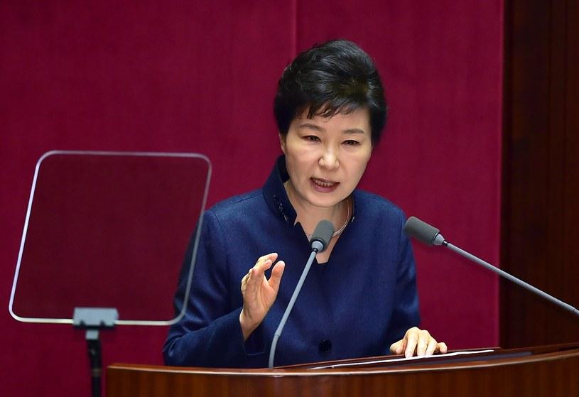 Prezydent Park ostrzega Koreę Północną przed upadkiem /AFP