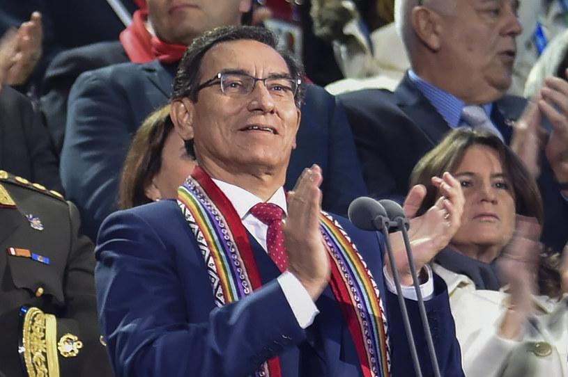 Prezydent Peru Martin Vizcarra /CRIS BOURONCLE / AFP /AFP