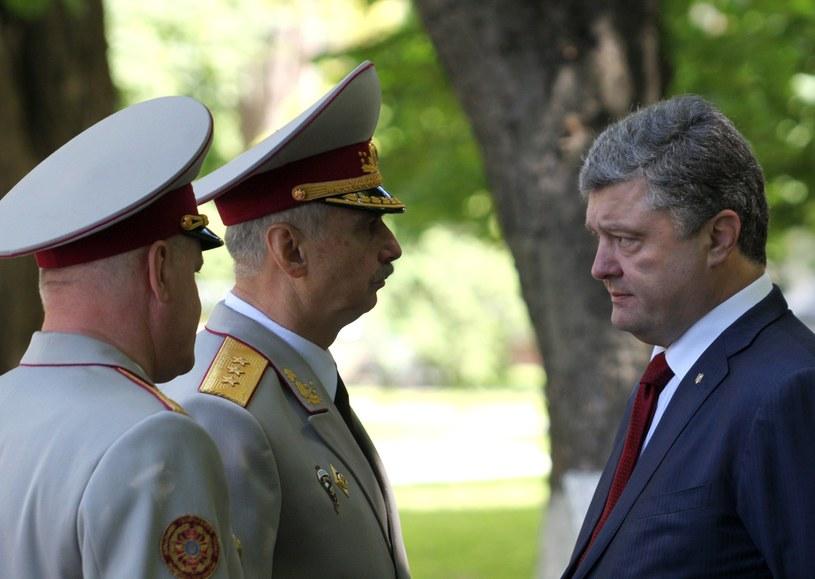 Prezydent Petro Poroszenko ostrzegł w odezwie do obywateli, że sytuacja na wschodzie kraju jest nadal bardzo trudna/ /AFP