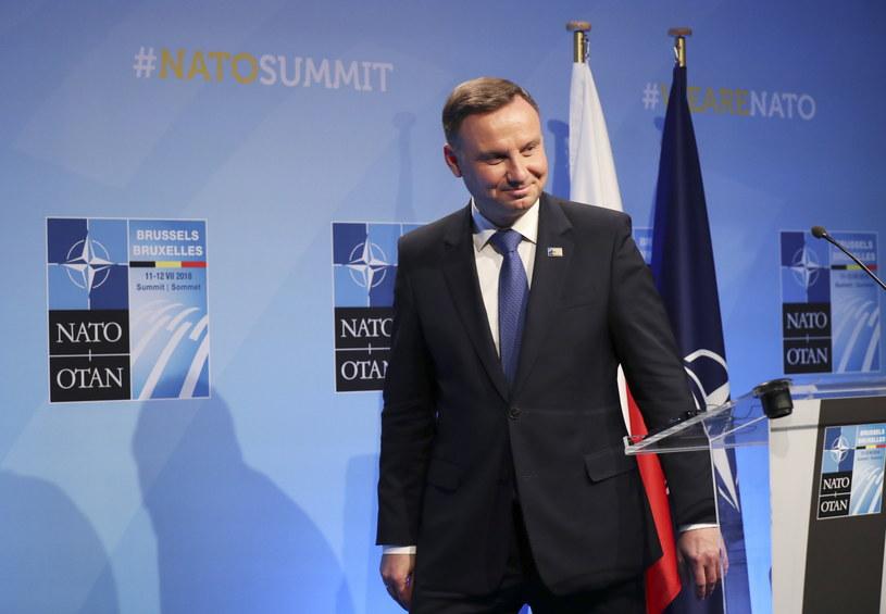 Prezydent podczas szczytu NATO /Radek Pietruszka /PAP