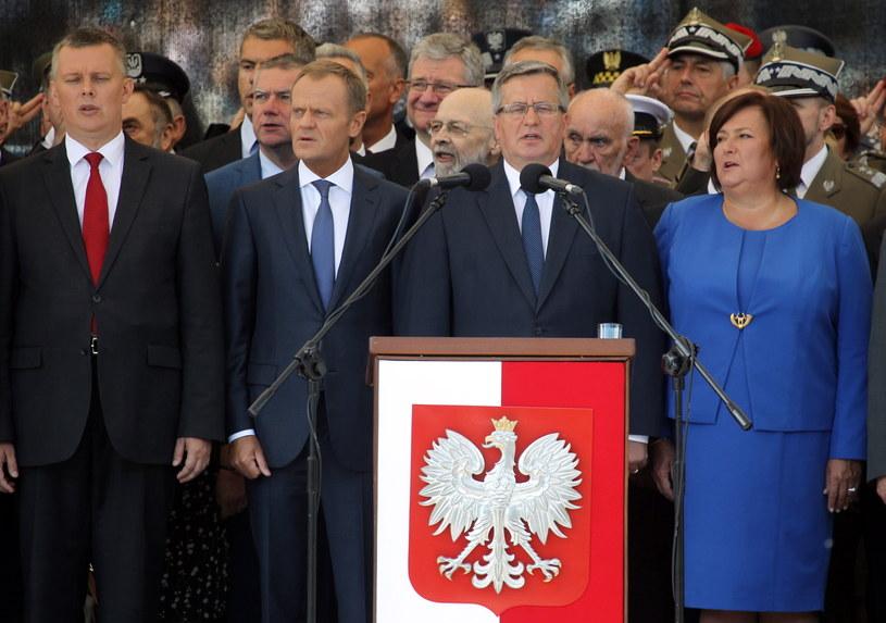 Prezydent podczas uroczystości z okazji Święta Wojska Polskiego /Radek Pietruszka /PAP