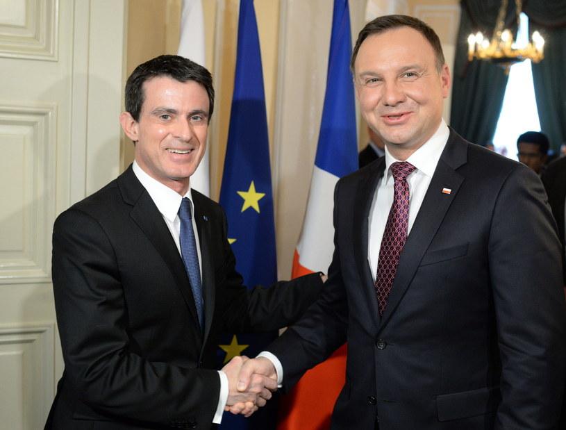 Prezydent poinformował, że odbył w trakcie monachijskiej konferencji spotkanie premierem Francji Manuelem Vallsem /Jacek Turczyk /PAP