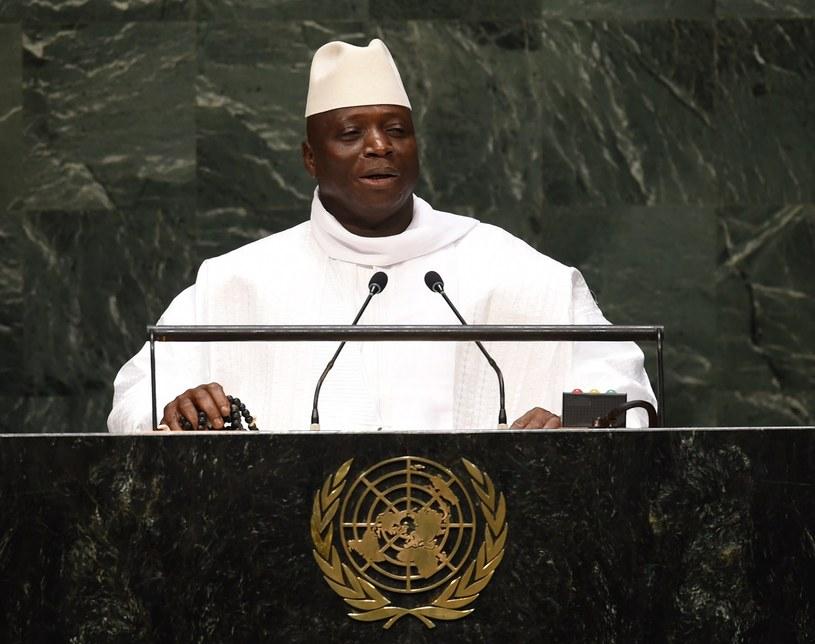 Prezydent położonej w Afryce Zachodniej Gambii, Yahya Jammeh /AFP