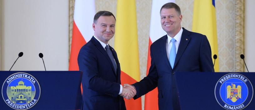 Prezydent Polski Andrzej Duda i prezydent Rumunii Klaus Werner Iohannis /Jacek Turczyk /PAP