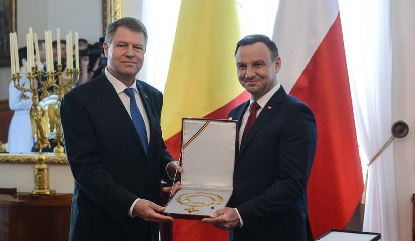 Prezydent Polski Andrzej Duda i prezydent Rumunii Klaus Werner Iohannis /Jakub Kamiński   /PAP