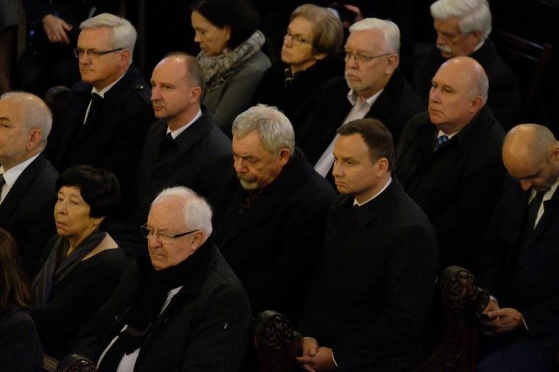 Prezydent Polski Andrzej Duda w towarzystwie prezydenta Krakowa Jacka Majchrowskiego /Paweł Krawczyk /INTERIA.PL
