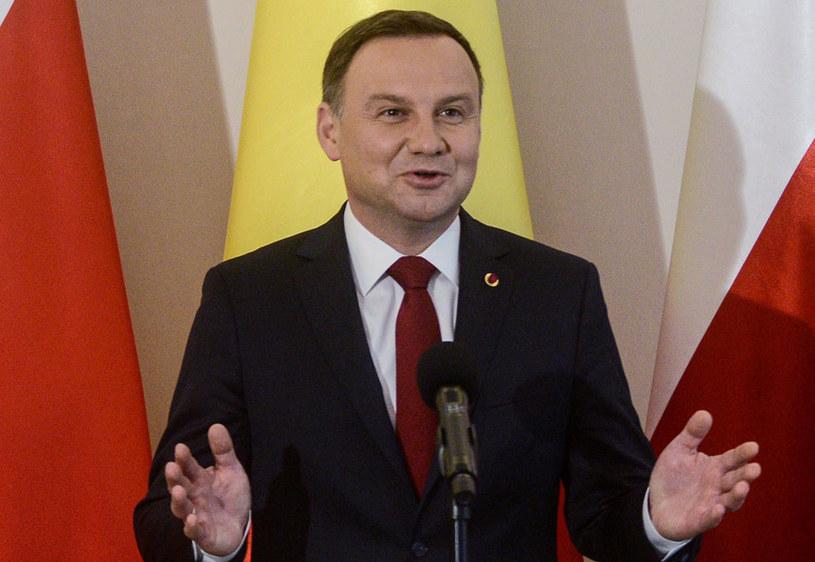 Prezydent Polski Andrzej Duda /Jakub Kamiński   /PAP