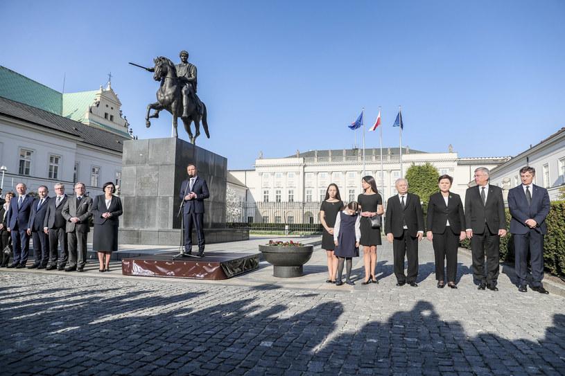 Prezydent przemawia /Andrzej Iwańczuk /Reporter