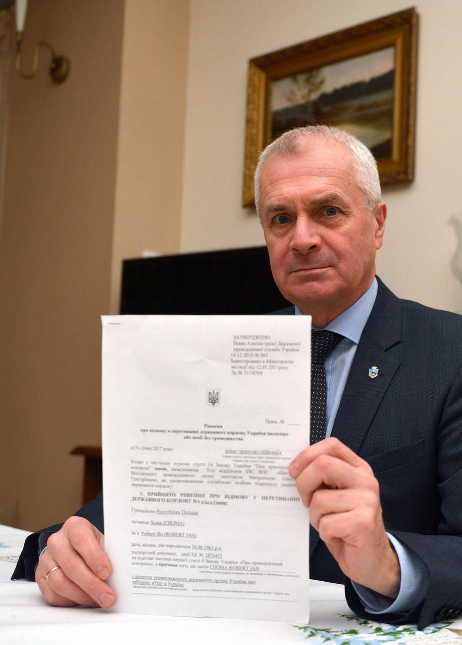 Prezydent Przemyśla Robert Choma i decyzja Służby Bezpieczeństwa Ukrainy /PAP/Darek Delmanowicz /PAP