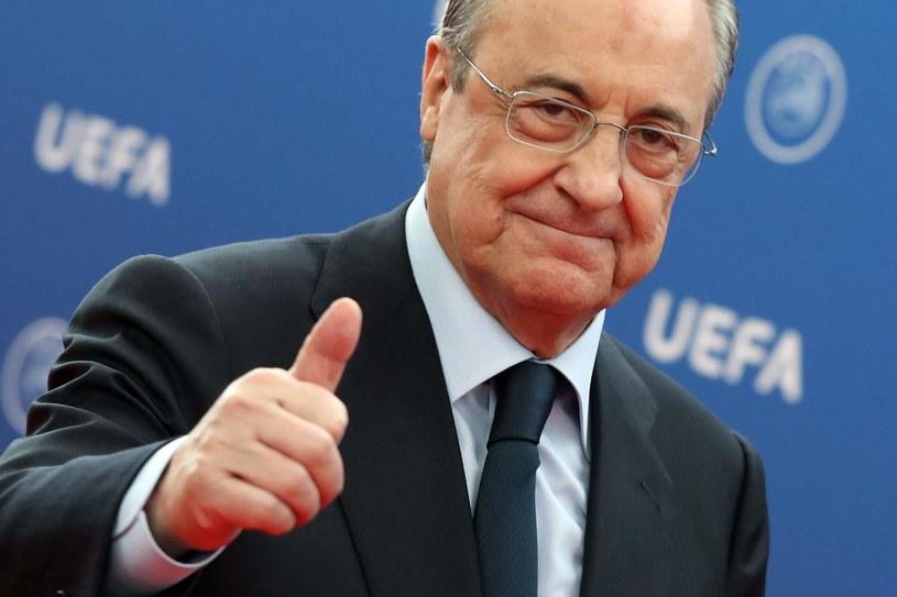 Prezydent Realu Madryt Florentino Perez ma stanąć na czele Superligi /AFP
