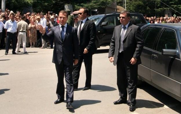 Prezydent Rosji Dmitrij Miedwiediew /AFP
