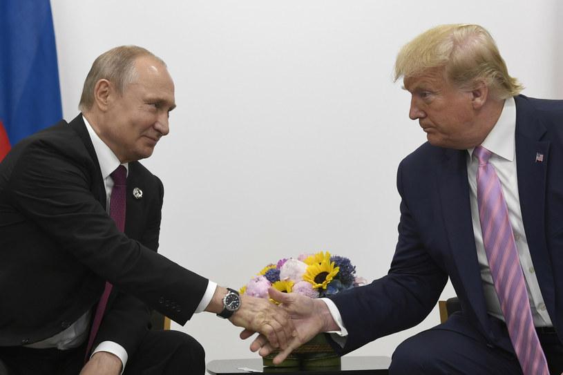 Prezydent Rosji Władimir Putin i prezydent USA Donald Trump /Associated Press /East News