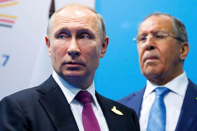 Prezydent Rosji Władimir Putin i szef MSZ Siergiej Ławrow /AFP