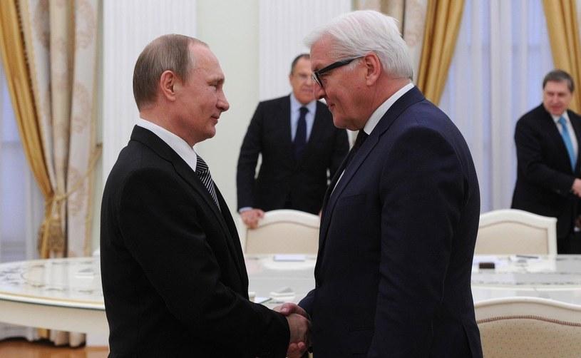 Prezydent Rosji Władimir Putin oraz szef MSZ Niemiec Frank-Walter Steinmeier /Getty Images