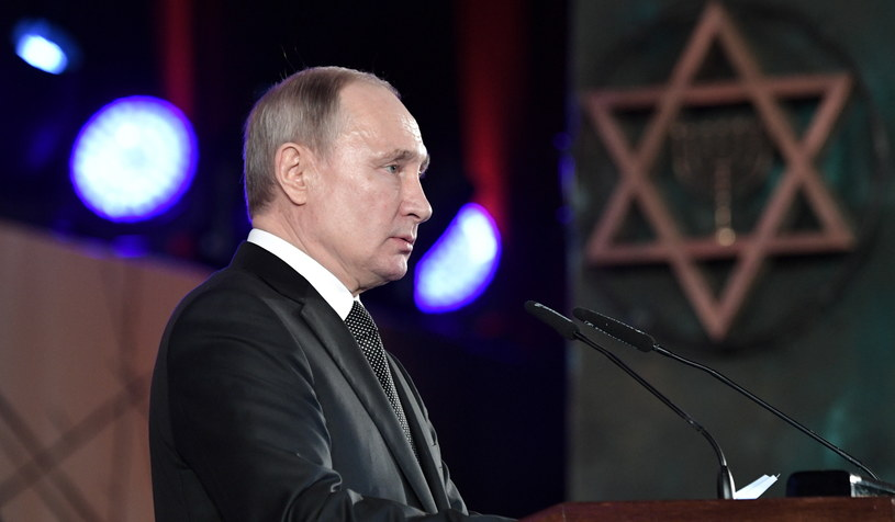 Prezydent Rosji Władimir Putin podczas uroczystości /PAP/EPA