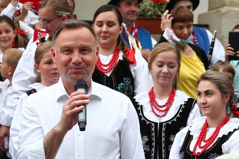 Prezydent RP Andrzej Duda (C) //Łukasz Gągulski /PAP