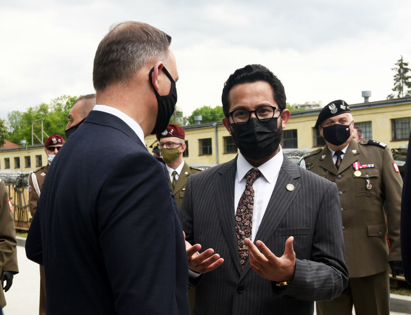 Prezydent RP Andrzej Duda i Tahir Qadiry - ambasador Afganistanu /Marek Lasyk/REPORTER  /Reporter