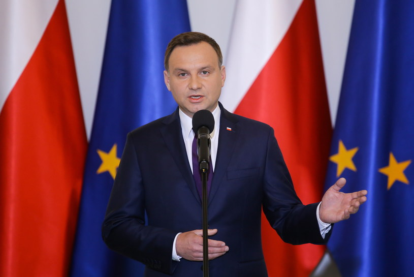 Prezydent RP Andrzej Duda, podczas oświadczenia dla mediów /Paweł Supernak /PAP