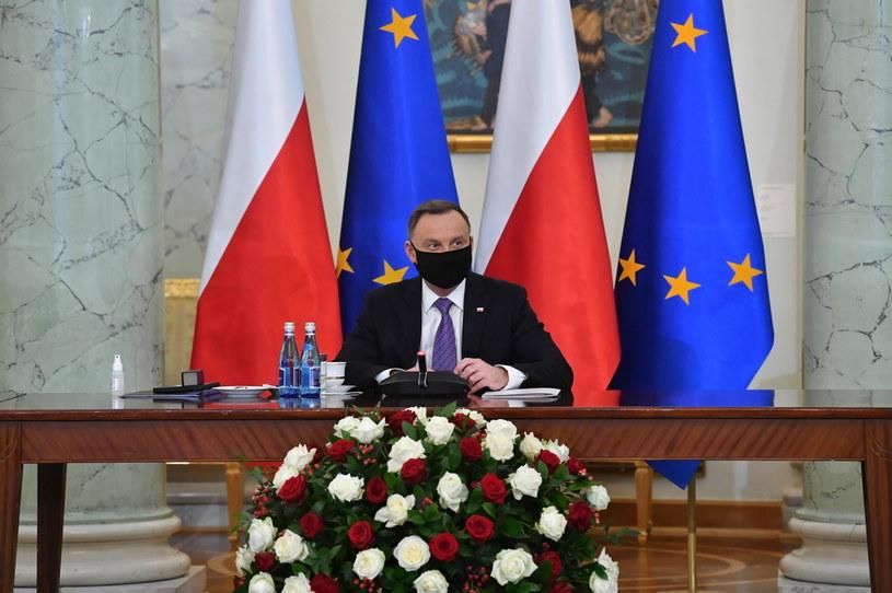 Prezydent RP Andrzej Duda podczas uroczystości powołania Rady ds. Społecznych /Radek  Pietruszka /PAP