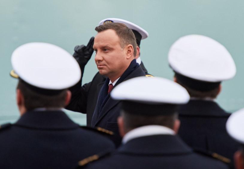 Prezydent RP Andrzej Duda w Gdyni /Adam Warżawa /PAP