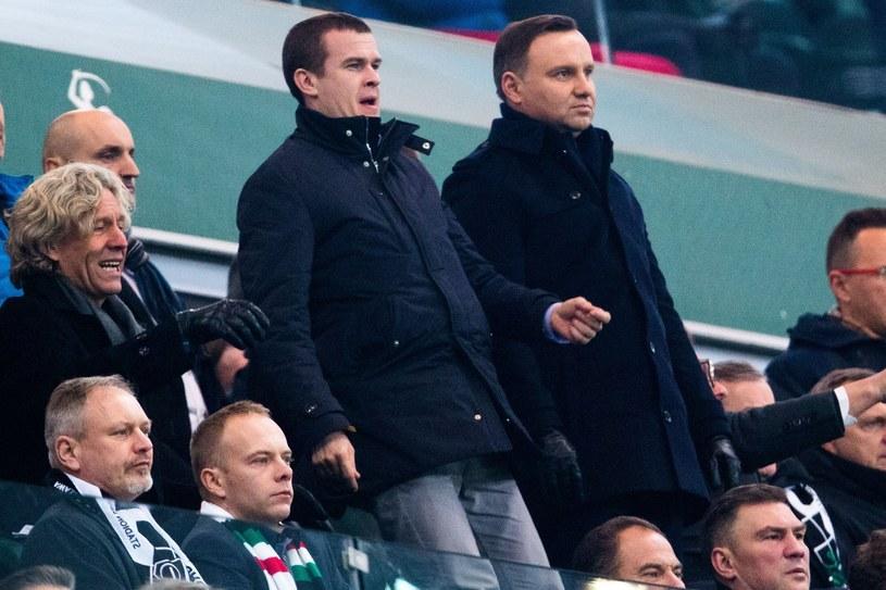 Prezydent RP Andrzej Duda (z prawej), obok minister Witold Bańka /fot. Andrzej Iwanczuk /East News