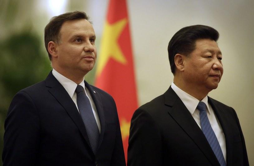 Prezydent RP Andrzej Duda z prezydentem Chin Xi Jinpingiem /AP Photo/Mark Schiefelbein /East News