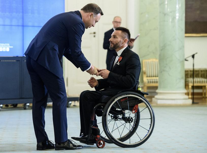 Prezydent RP Andrzej Duda z Rafałem Wilkiem /Rafał Oleksiewicz /East News