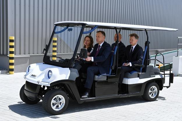 Prezydent RP Andrzej Duda zwiedza fabrykę pojazdów elektrycznych Melex /PAP