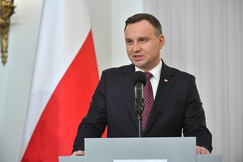 Prezydent RP Andrzej Duda /Bartłomiej Zborowski /PAP