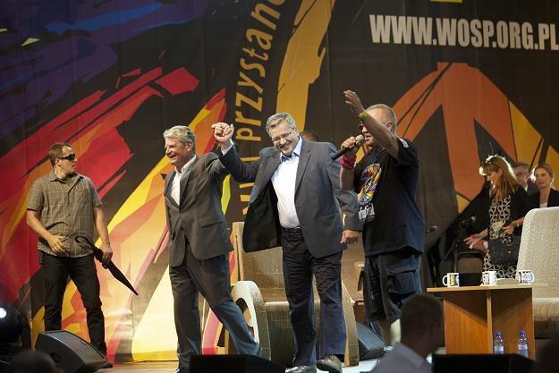 Prezydent RP Bronisław Komorowski (C) i prezydent RFN Joachim Gauck /fot. Lech Muszyński /PAP