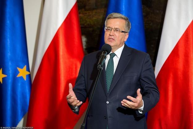 Prezydent RP Bronisław Komorowski, Fot. Andrzej Iwanczuk /Reporter