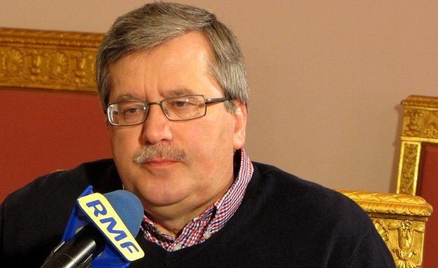 Prezydent RP Bronisław Komorowski /RMF