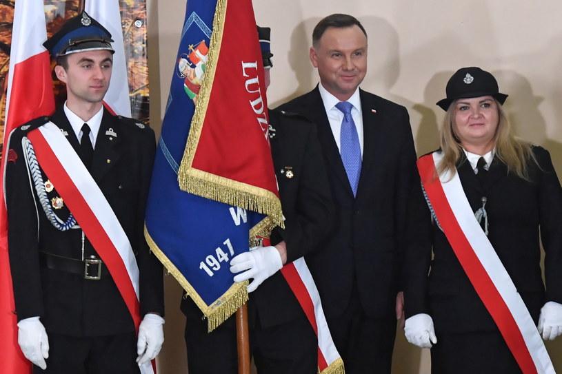 Prezydent Rzeczypospolitej Polskiej Andrzej Duda podczas wizyty w Brojcach / Marcin Bielecki    /PAP