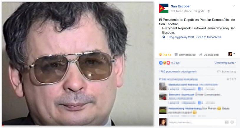 Prezydent San Escobar /San Escobar Facebook /materiały prasowe