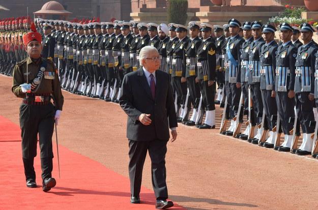Prezydent Singapuru Tony Tan Keng Yam /Indian President House   /PAP/EPA