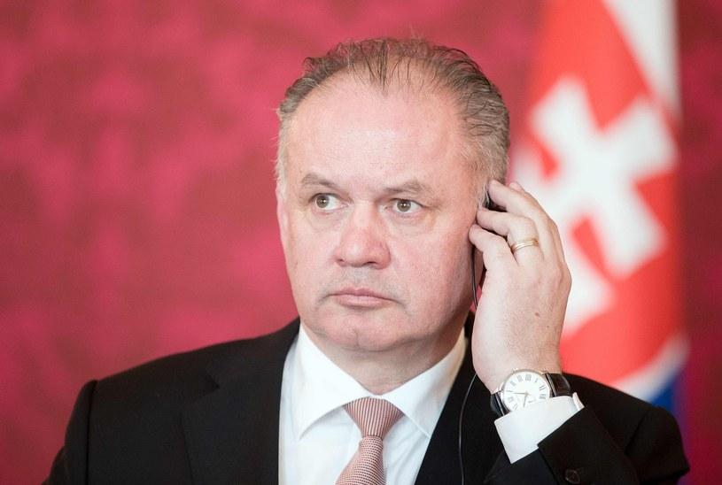Prezydent Slowacji Andrej Kiska /AFP