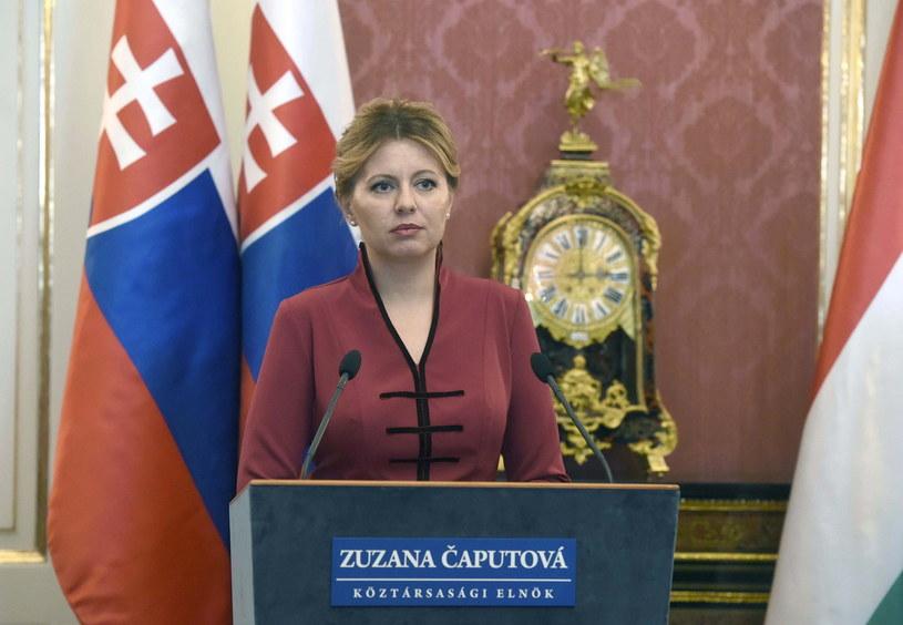 Prezydent Słowacji Zuzana Czaputova /Noemi Bruzak /PAP/EPA