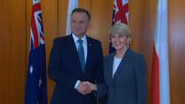 Prezydent spotkał się z australijskimi władzami