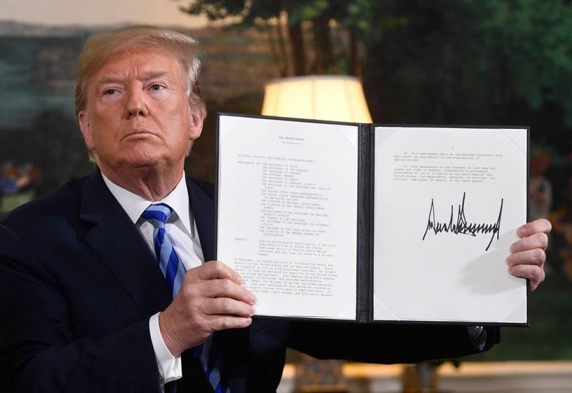 Prezydent Stanów Zjednoczonych Donald Trump /SAUL LOEB /East News