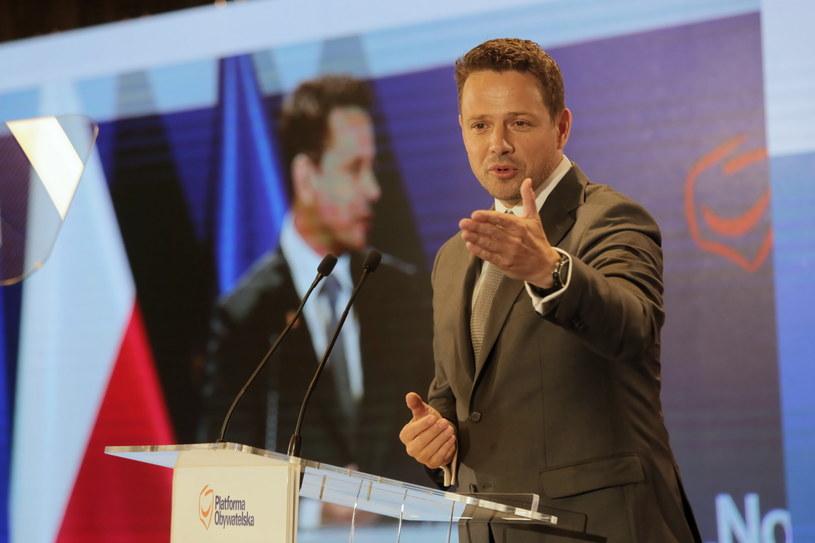 Prezydent stolicy Rafał Trzaskowski podczas wspólnego posiedzenia rady krajowej PO i Nowoczesnej /Wojciech Olkuśnik /PAP