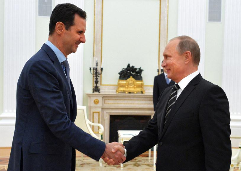 Prezydent Syrii Baszar el-Asad i Władimir Putin /AFP