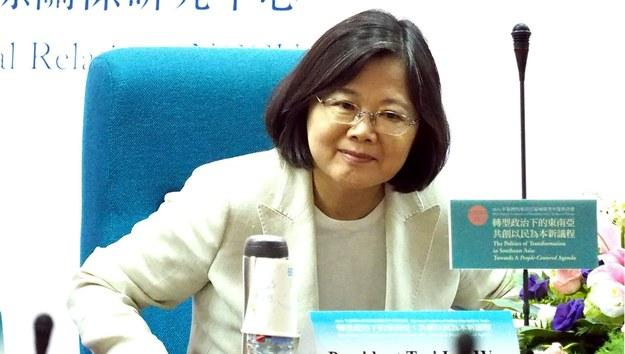 Prezydent Tajwanu Caj Ing-wen /DAVID CHANG  /PAP/EPA