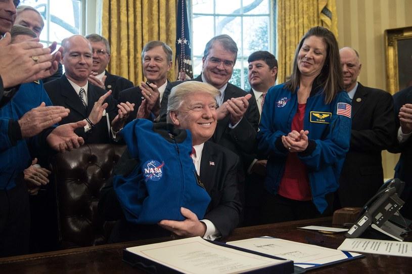 Prezydent Trump podpisał budżet NASA na rok finansowy 2018 /AFP
