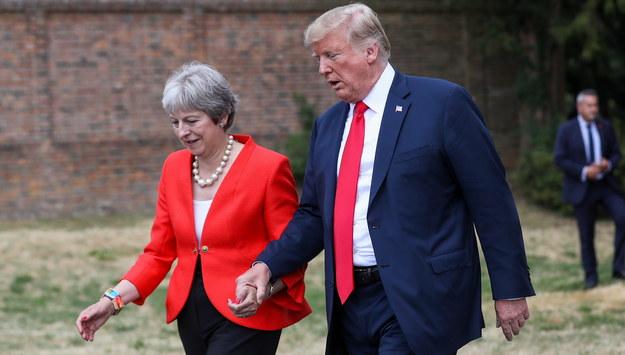 Prezydent Trump zasugerował, że May powinna pozwać UE /CHRIS RATCLIFFE / POOL /PAP/EPA